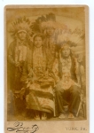 'Lone Feather & Wife', 'Bull and Cloud  Sioux Chiefs on a Wild West Show 1885